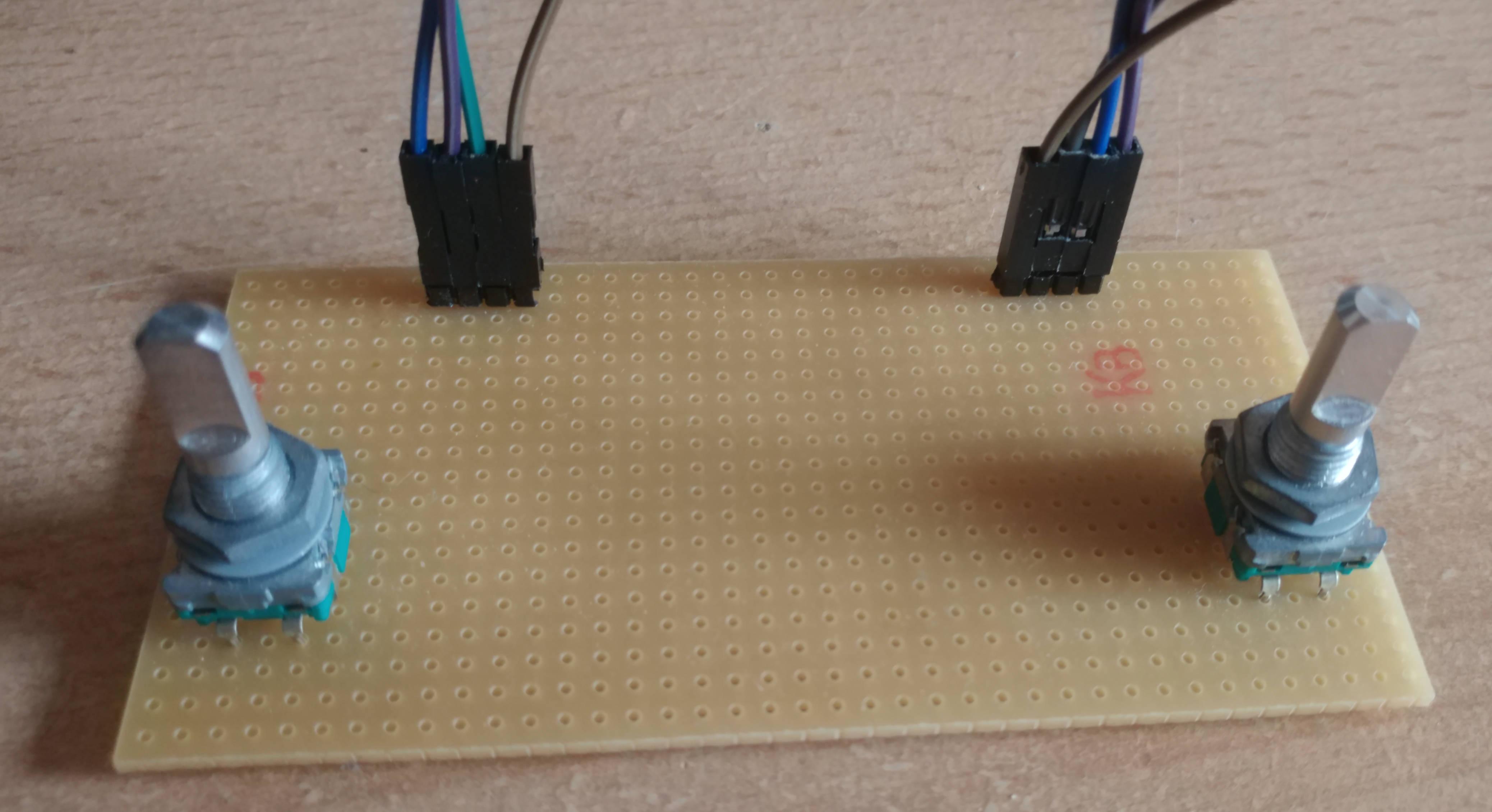 Test-Platine für Dreh-Encoder